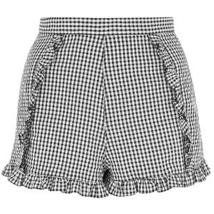 Topshop Ruffle Gingham Shorts